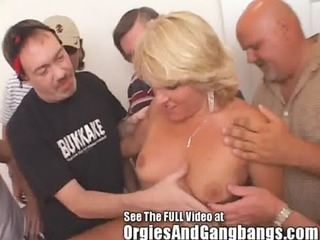 10 gap creampie whore wife acquires bukkake knobs