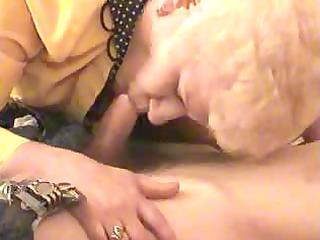old blonde granny satisfies a boy
