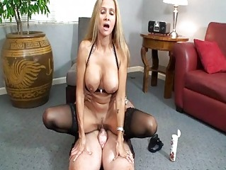 perverted blonde milf in sluty underware rides