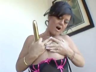 mom wishes big knob but now gold vibrator hv