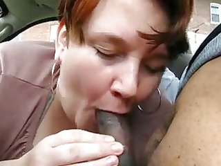 chubby mature gives oral-service to juvenile