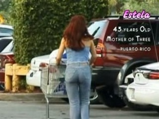 valuable breasty mommy in a supermarket