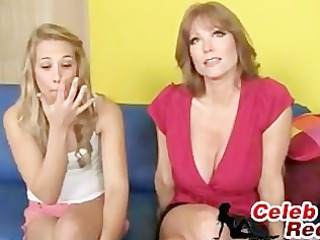kimberly and her mommy fuck a massive obese dick