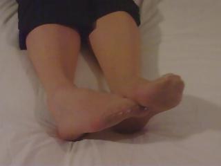 my wifes nylon feet