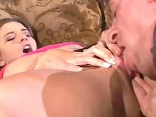 hot youthful wife gets her snatch licked and