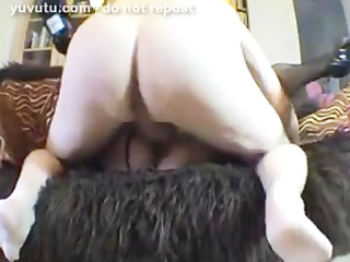 wife in fishnets receive fucked on the ottoman