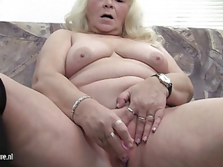 big grandmother can enjoyable herself