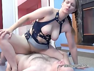 older bitch natasha is getting drilled by a geek