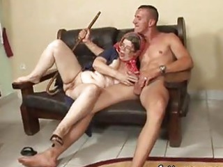 aged outstanding granny hungry young stud sex on