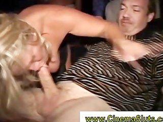 large booty older blonde acquires cum draining