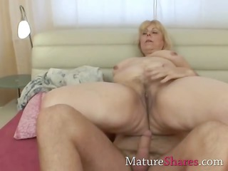 chunky blonde mature