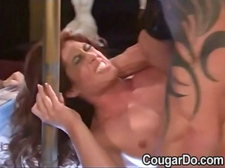 hawt older stripper acquires drilled on stage