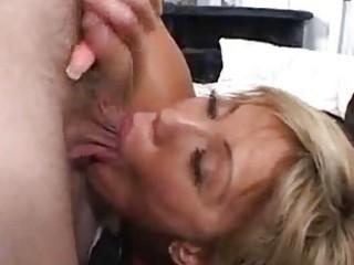 eager house wife receives a facial
