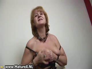 hot old housewife stripping and playing part0