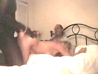 hubby films blond wife enjoying black satisfaction