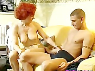 german redhead older housewife
