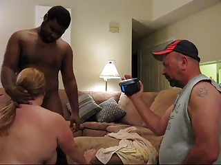 hillbilly turns chunky wife into black cock whore