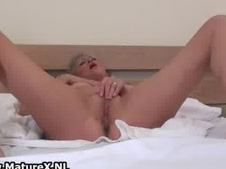 golden-haired older lady likes playing part3