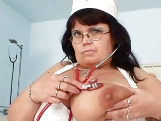 giant tits d like to fuck nurse shows off her