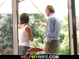 young wife cucks in countryhouse