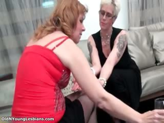 sexually excited older blonde lesbo woman part7