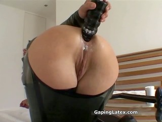 indecent dark brown slut goes mad sex toy part10