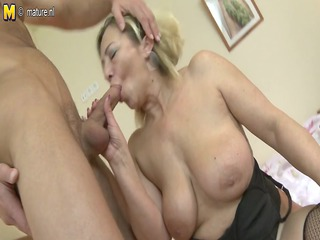 aged mommy acquires screwed by her toyboy