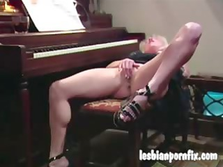 two aged women nude and masturbating