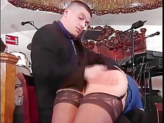 slut in nylons acquires booty spanked