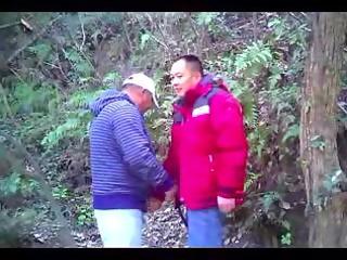 [spy video]chn mature bear man engulf knob