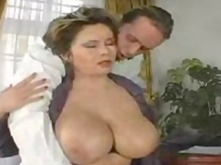breasty ladys titties dance when drilled