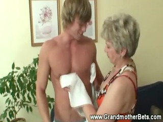 granny seducing younger cock