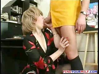 older secretary entice youthful boss