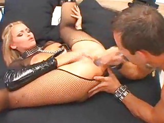 blond milfs in latex and fishnets