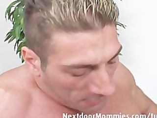 blond aged mamma takes it is anal