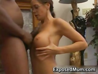 sexy mother i in glasses deepthroating black