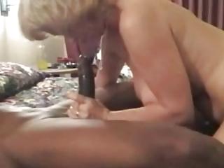 blonde older barebacked