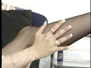 dark brown receives clothed up in her underware