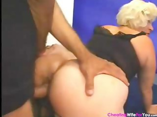 mature blond wife eats ramrod and receives