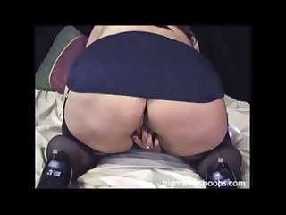 very big mature woman using her toys to