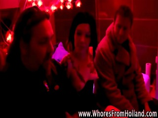 non-professional guy visits tattooed hooker in