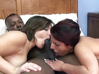 sultry lavender in a threesome with mature liisa