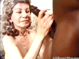 granny enjoying having interracial sex black