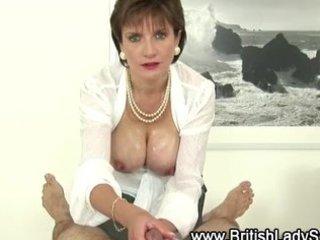 breasty mature lady sonia gives tugjob