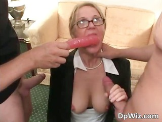 golden-haired bulky mother i getting fingered
