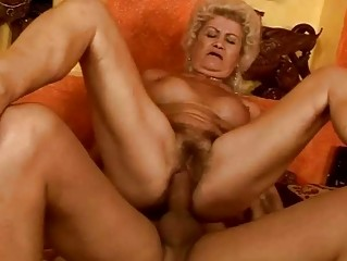nasty breasty granny acquires her slit drilled