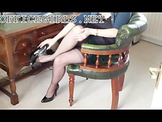 excited milf bitch secretary in fully fashioned
