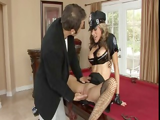 sarah jessie is a mature harlot driver in black