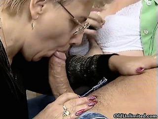 wicked old whores go insane sucking dicks