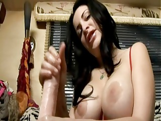 she is is going to show how to jerk off